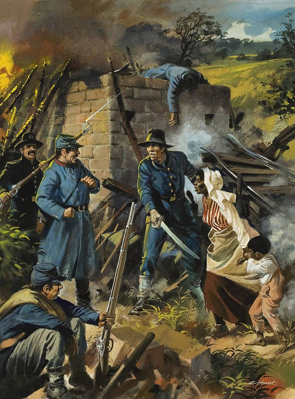 Abolitionist Art Print featuring the painting John Brown On 30 August 1856 Intercepting A Body Of Pro-slavery Men by Andrew Howart