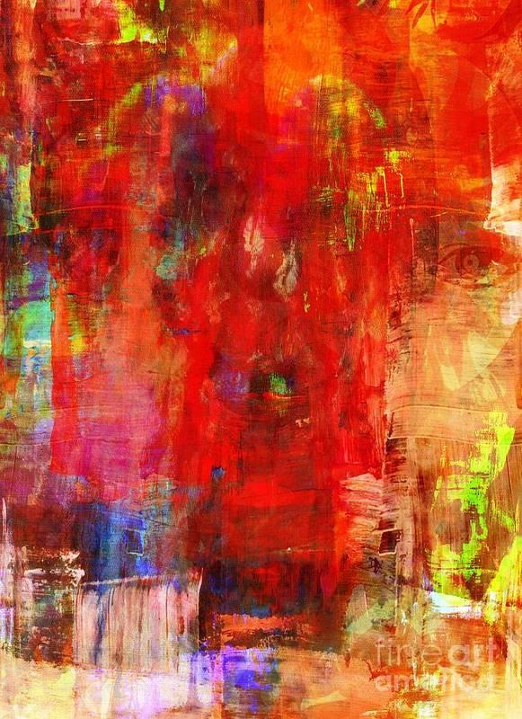 Art Print featuring the mixed media Looking Ahead by Fania Simon