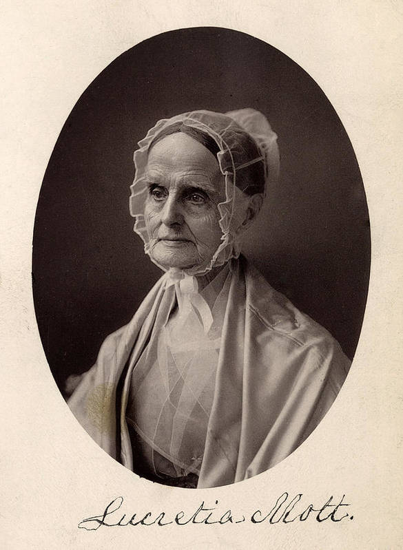 1870s Art Print featuring the photograph Lucretia Coffin Mott. F. Gutekunst by Everett