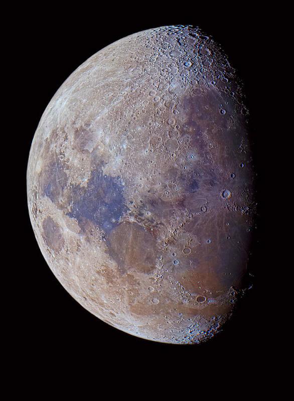 Vertical Art Print featuring the photograph Lunar Colors by (c) 2010 Luis Argerich