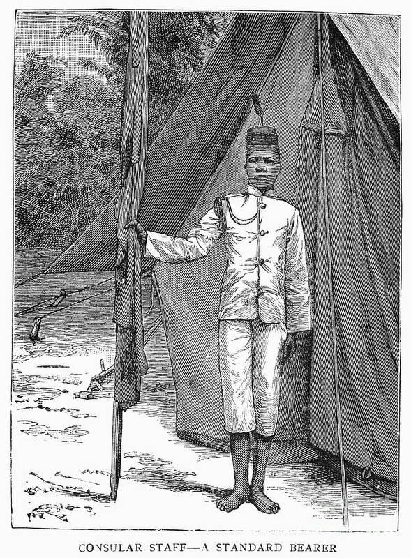 1889 Art Print featuring the photograph Nyasaland: Consular Staff by Granger