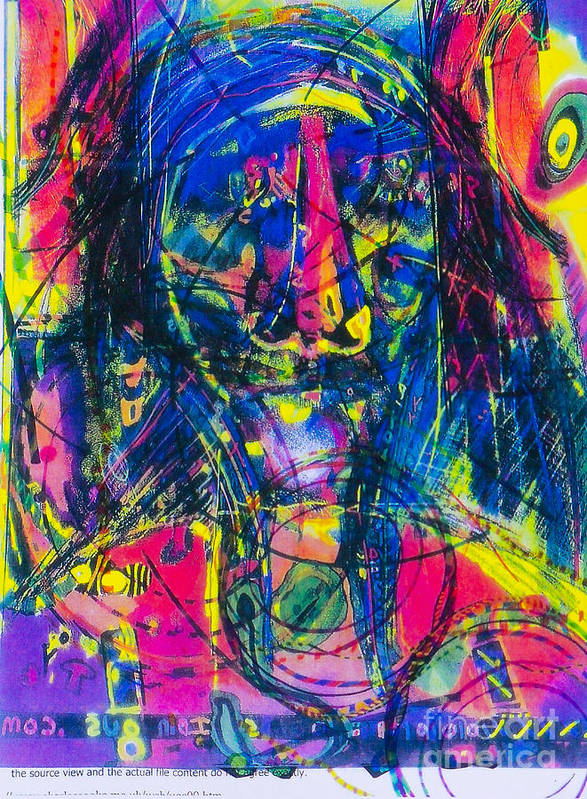 New Image Painting Art Print featuring the mixed media Pastel Man 17 by Bill Davis