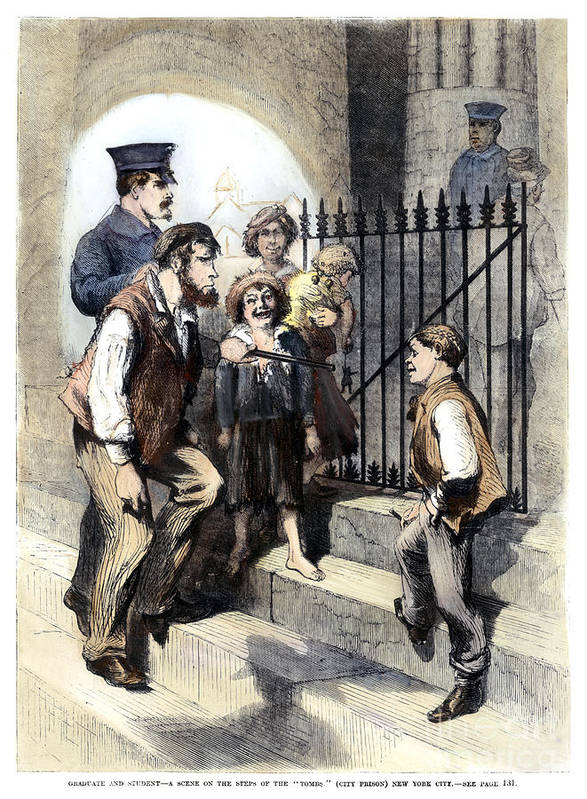 1868 Art Print featuring the photograph Prison: The Tombs, 1868 by Granger