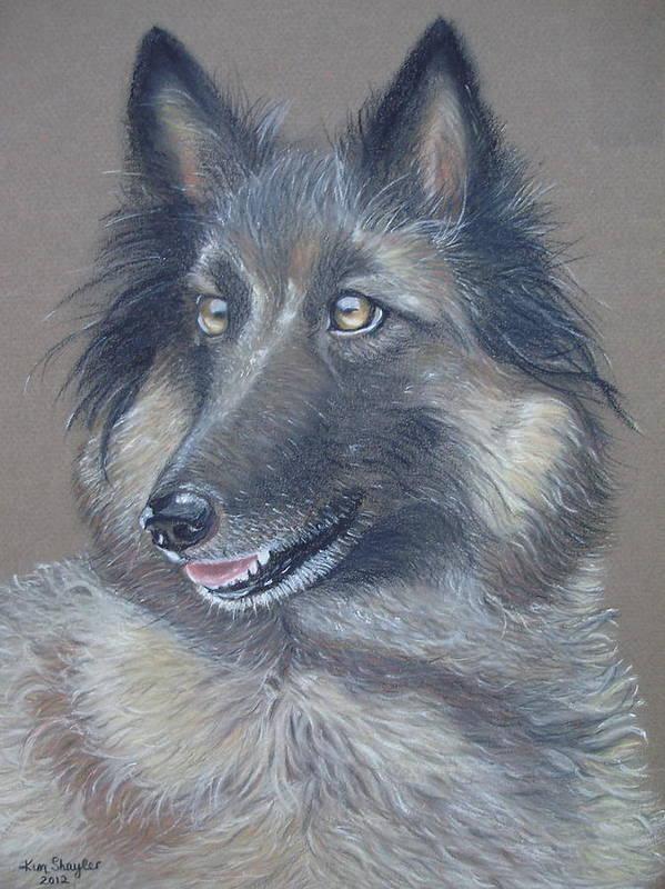 Dog Art Print featuring the painting Raifa by Kim Shayler