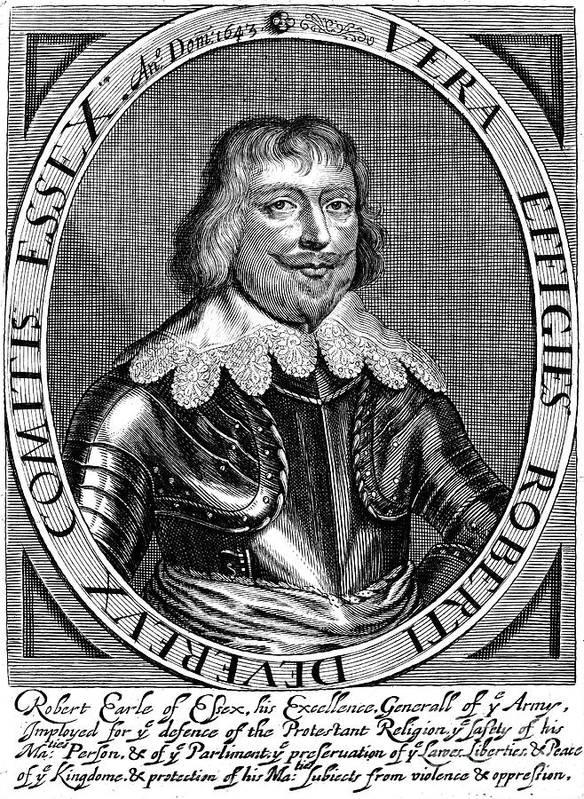 1643 Art Print featuring the photograph Robert Devereux (1591-1646) by Granger