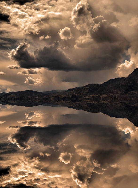 Clouds Art Print featuring the photograph Strange Clouds Reflected by Tara Turner