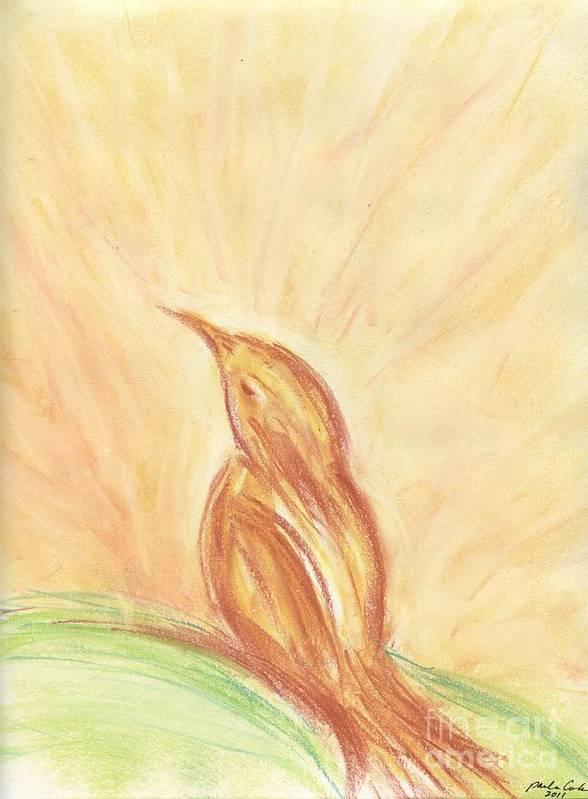 Sunrise Art Print featuring the drawing Sunrise by Paula Cork