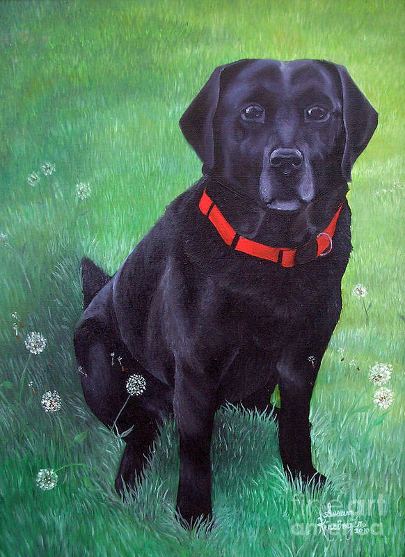 Dog Art Print featuring the painting Teddy by Susan Clausen