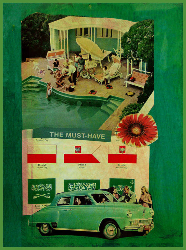 Collage Art Print featuring the mixed media The Must Have by Adam Kissel