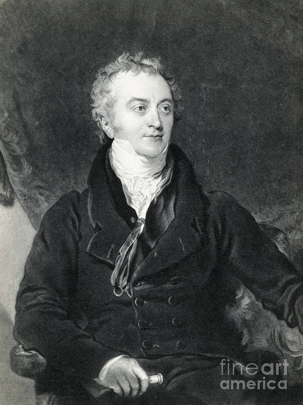 Science Print featuring the photograph Thomas Young, English Polymath by Photo Researchers