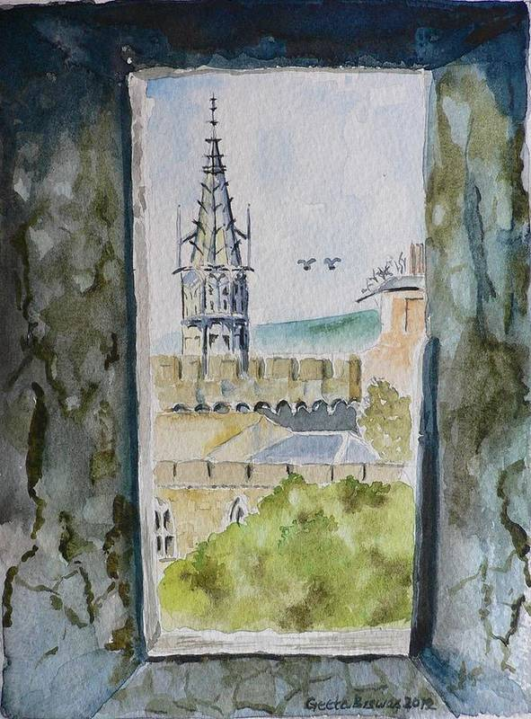 Cardiff Castle Art Print featuring the painting Through The Eyes Of The Prisoner by Geeta Biswas