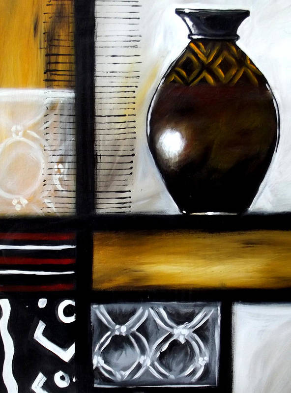Art Prints Art Print featuring the painting Vessel 2 by Alonzo Butler