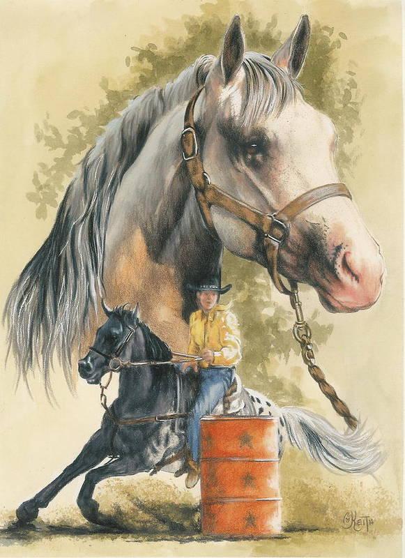 Horse Art Print featuring the mixed media Appaloosa by Barbara Keith