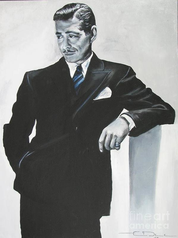 Clark Gable Art Print featuring the painting Clark Gable by Eric Dee