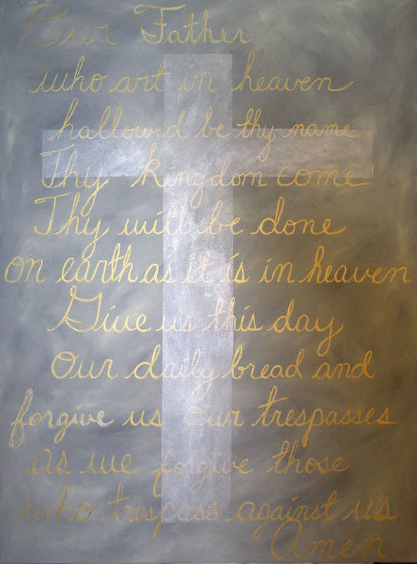 God Art Print featuring the painting Father Forgive Us by Donielle Boal
