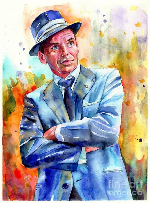Frank Sinatra Young Painting Art Print By Suzann S Art