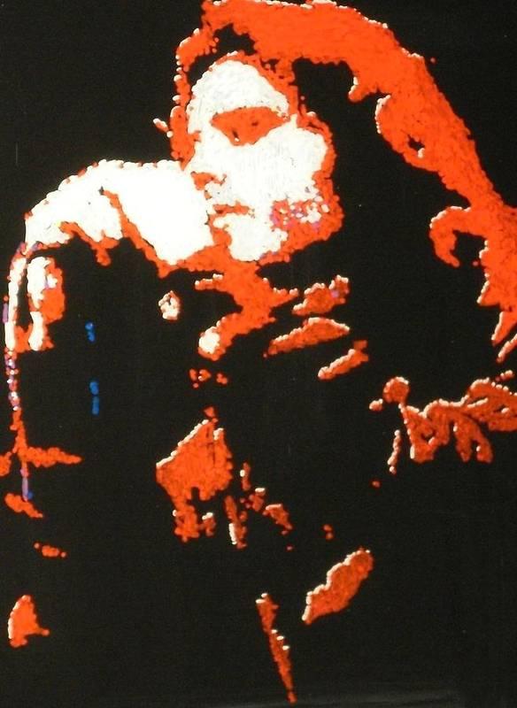 Jim Morrison Art Print featuring the painting Jim Morrison by Grant Van Driest