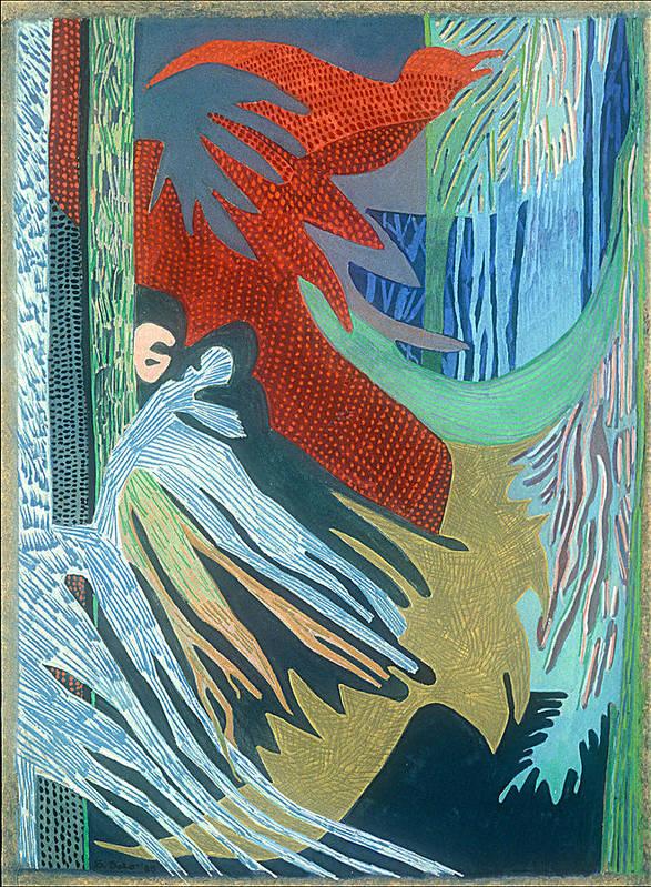 Abstract Art Print featuring the painting Kurunda by Sandra Salo Deutchman