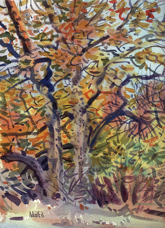 Autumn Art Print featuring the painting October Colors by Donald Maier