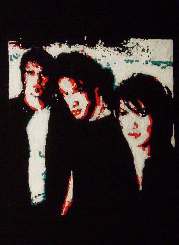 Sick Puppies Art Print featuring the painting Sick Puppies by Grant Van Driest