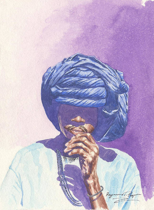 Timbukto Art Print featuring the painting Untitle by Sandra Pryer