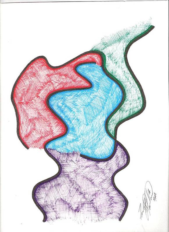Art Print featuring the drawing Untitled by Freda Garland