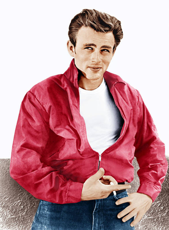 1950s Portraits Art Print featuring the photograph Rebel Without A Cause, James Dean, 1955 by Everett