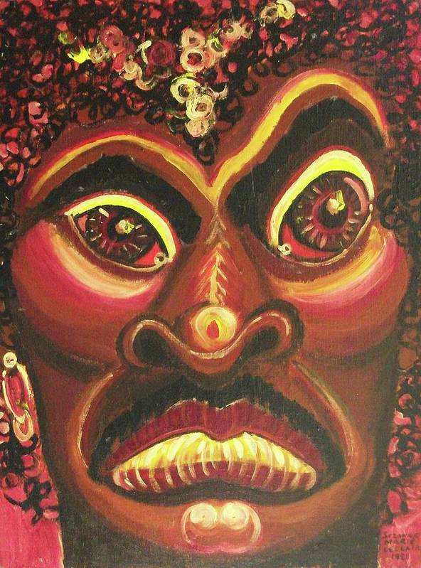 African American Art Print featuring the painting Untitled by Suzanne Marie Leclair