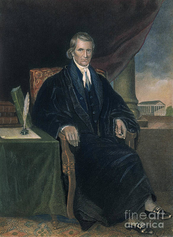 18th Century Print featuring the photograph John Marshall (1755-1835) by Granger