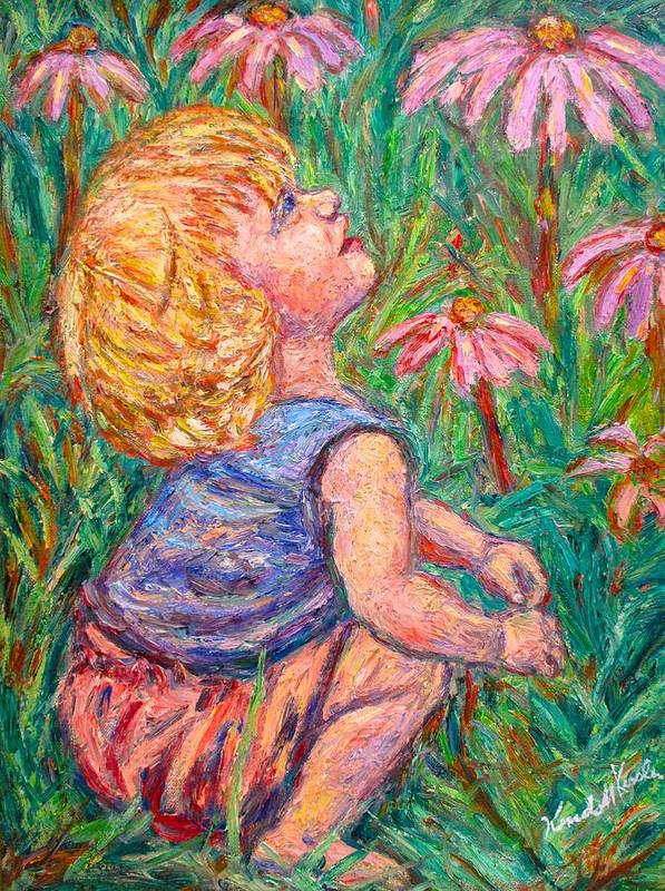 Child Art Print featuring the painting A Beautiful Moment by Kendall Kessler