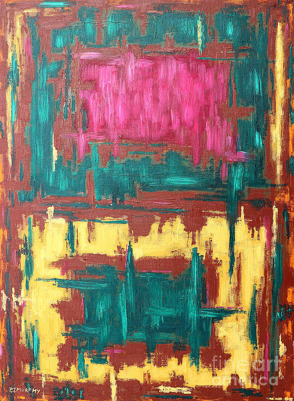 Abstract Art Print featuring the painting Abstract 16 by Patrick J Murphy