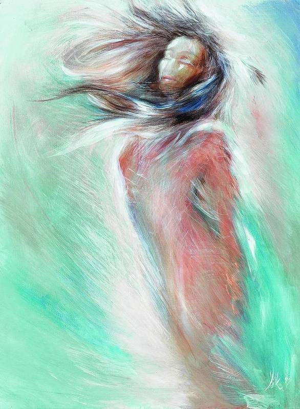 Woman Art Print featuring the painting Acceptance by Elizabeth Silk