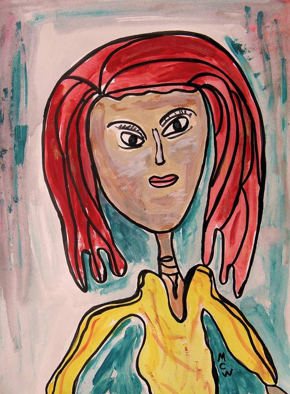 Girl Art Print featuring the painting Addie- Noble And Kind by Mary Carol Williams