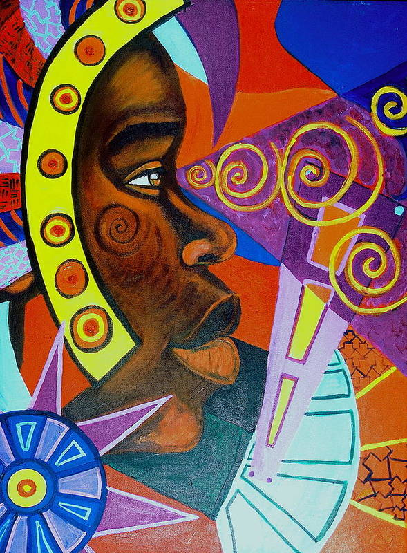 Maliksart Art Print featuring the painting Aesthetic Ascension by Malik Seneferu