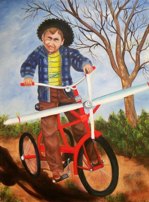 Art Print featuring the painting Airplane Bike by Joni McPherson