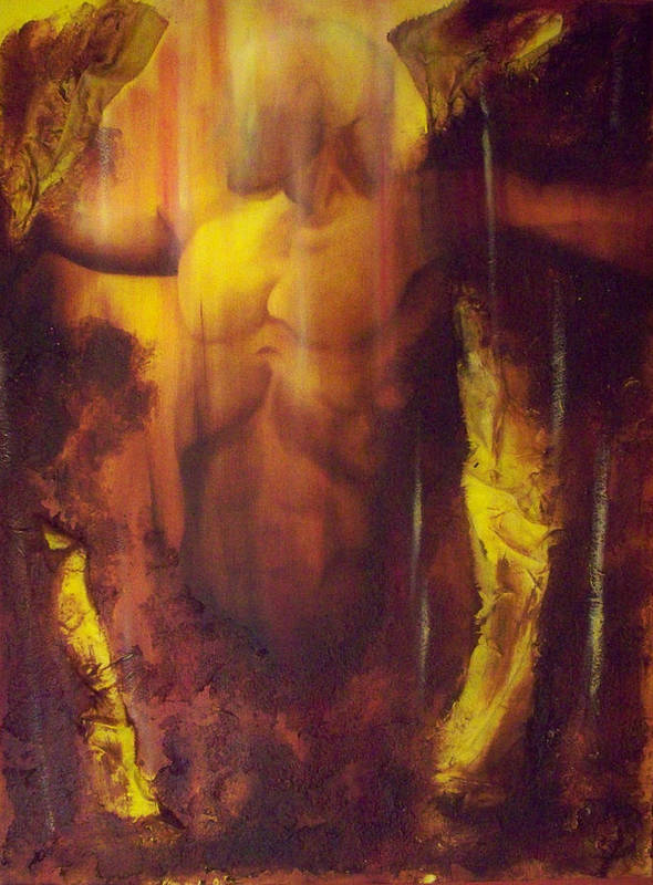 Original Paintings Art Print featuring the painting Almost Beyond3 by Hoparte Gallery