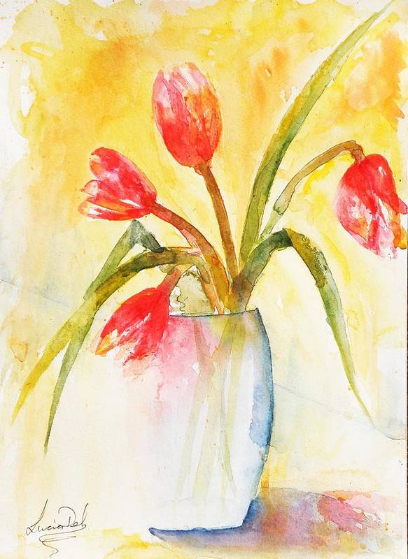 Watercolour Art Print featuring the painting Almost Gone by Lucia Del