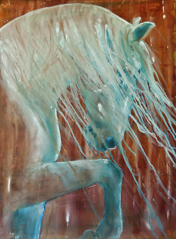 Horse Art Art Print featuring the painting Andalusian Stallion by Jani Freimann