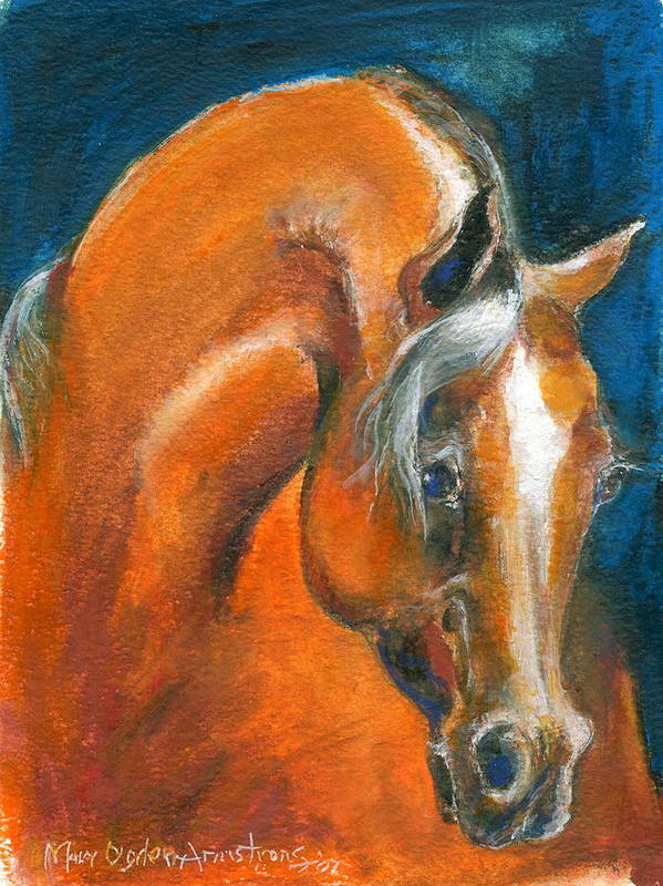 Arabian Art Print featuring the painting Arabian 1 by Mary Armstrong