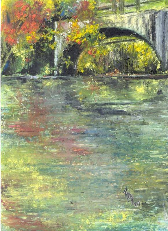 Arkansas Art Print featuring the painting Arkansas Trestle by Robin Miller-Bookhout