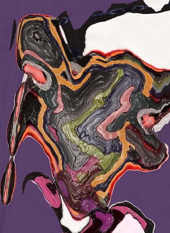 Abstract Art Print featuring the digital art Art No. Five by LeeAnn Alexander