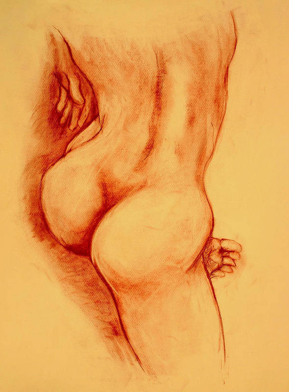 Nude Art Print featuring the painting Asana Nude by Dan Earle
