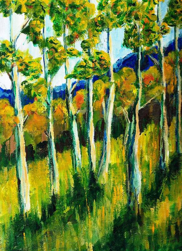 Aspen Art Print featuring the painting Aspen Highlands by Randy Sprout