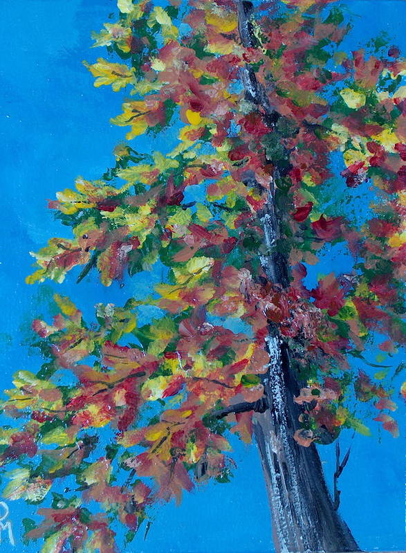 Tree Art Print featuring the painting Asymmetree by Pete Maier