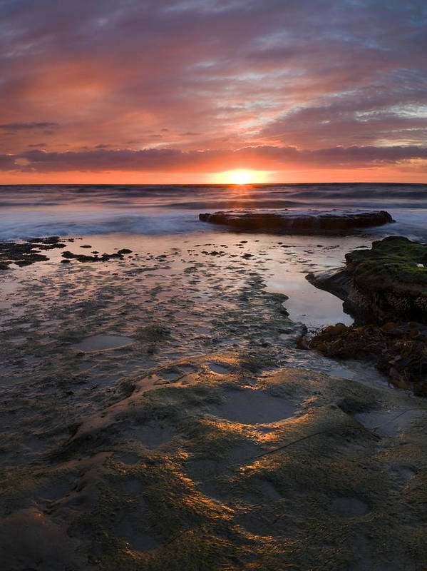 San Diego Art Print featuring the photograph At The Horizon by Mike Dawson