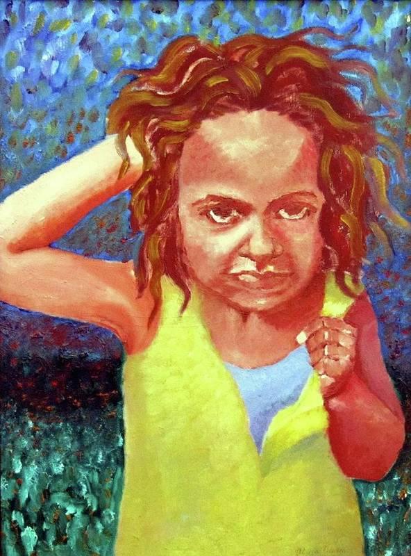 Portrait Art Print featuring the painting Attitudinal by Alima Newton