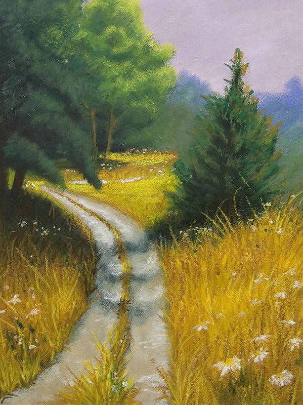 Landscape Art Print featuring the painting Austin's Way by Wynn Creasy