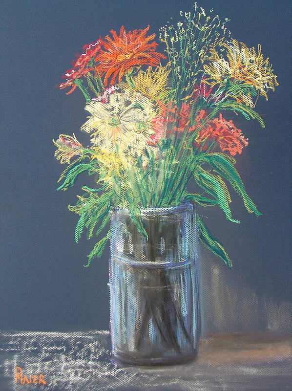 Stilllife Art Print featuring the pastel Autumn Bouquet by Pete Maier