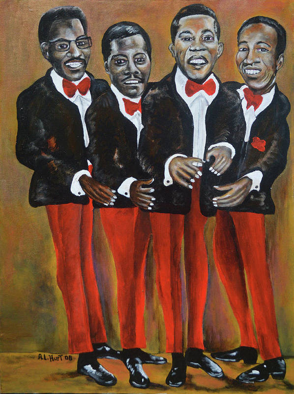 Singers Group Art Print featuring the painting Baby , Baby by Anthony Hurt