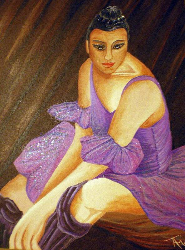 Ballet Art Print featuring the painting Ballerina by Tammera Malicki-Wong
